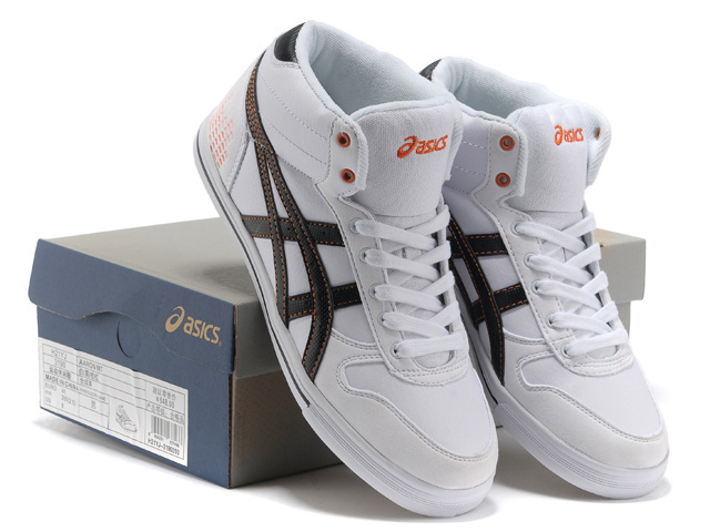 Men's Asics Aaron MT Beige Black Orange Red