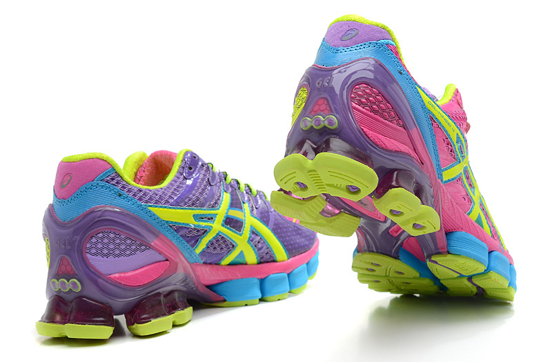 Women's Asics Gel Kinsei 4 Fuchsia Blue Violet Green Yellow