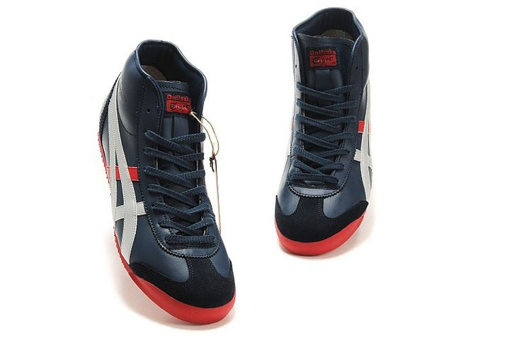 Onitsuka Tiger Mexico Mid Runner Blue/White/Red Women/Men
