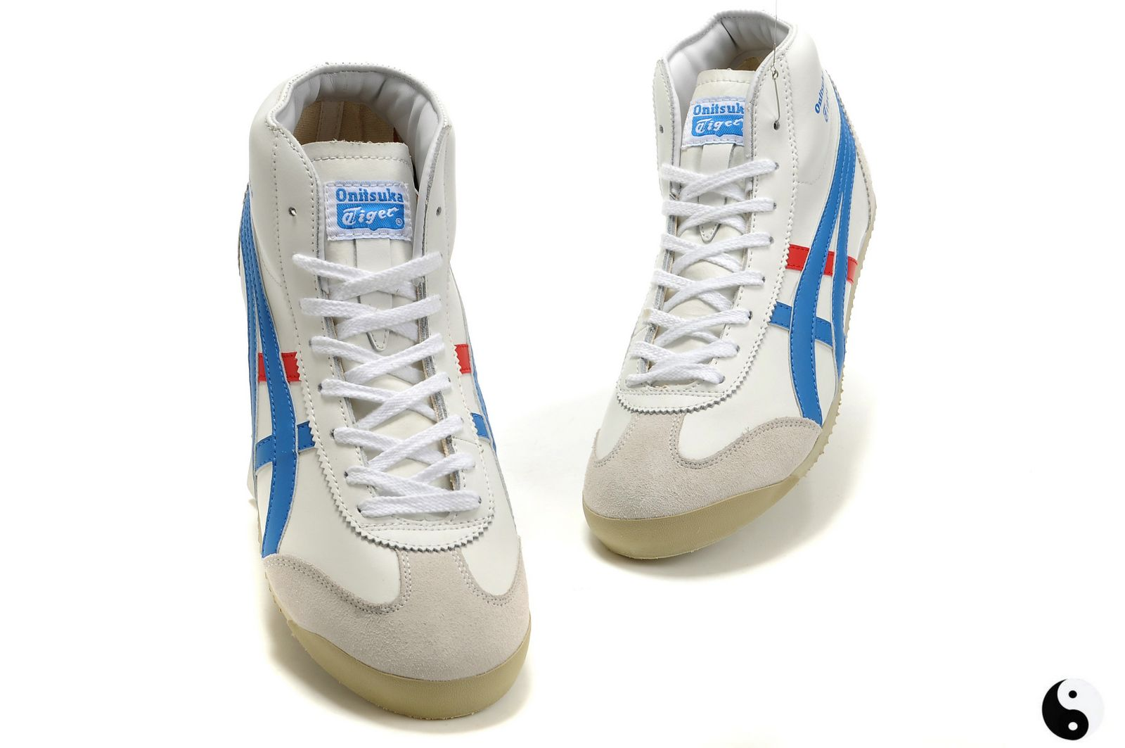 Onitsuka Tiger Mexico Mid Runner White/Blue/Red Women/Men