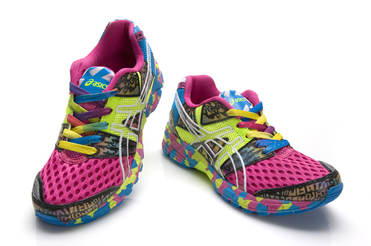 Women's Asics Gel Noosa Tri 8 Hot Pink Dodger Blue Gray
