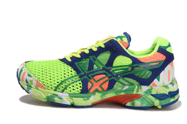 Asics Women's Gel Noosa Tri 7 Yellow Green Midnight Blue Coral