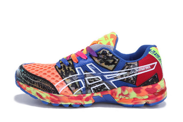 Men's Asics Gel Noosa Tri 8 Royal Blue Tomato Silver
