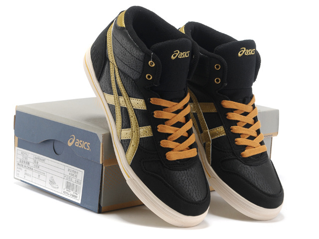 Men's Asics Aaron MT Dark Slate Gray Goldenrod Orange