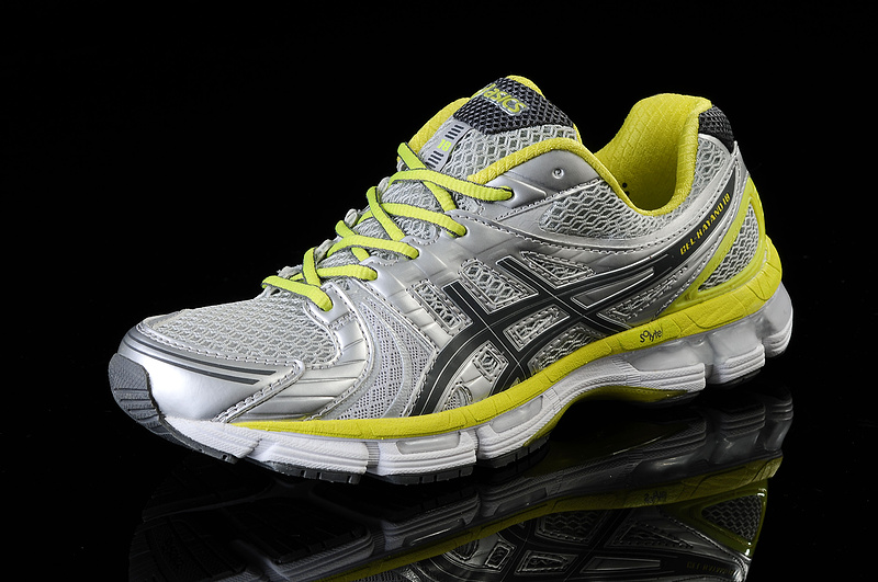Asics Men's Gel Kayano 18 Silver Slate Gray Yellow