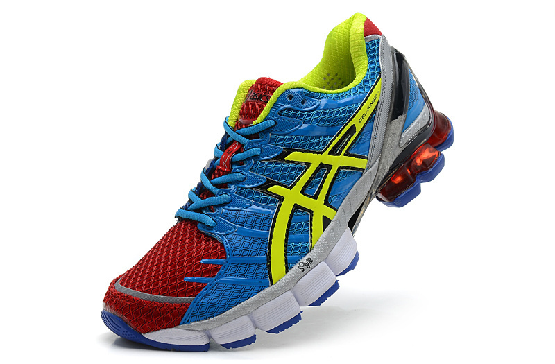 Men's Asics Gel Kinsei 4 Maroon Yellow Medium Blue