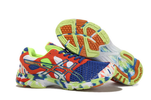 Asics Men's Gel Noosa Tri 7 Medium Blue Tomato Green Yellow
