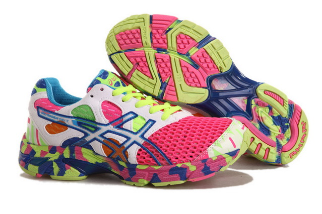 Asics Women's Gel Noosa Tri 7 Hot pink Lavender Blush Green Yellow