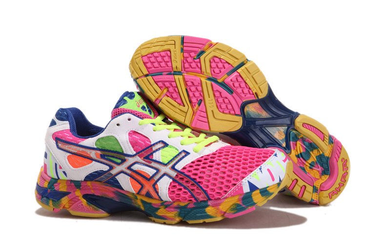 Men's Asics Gel Noosa Tri 7 Fuchsia Floral White Blue