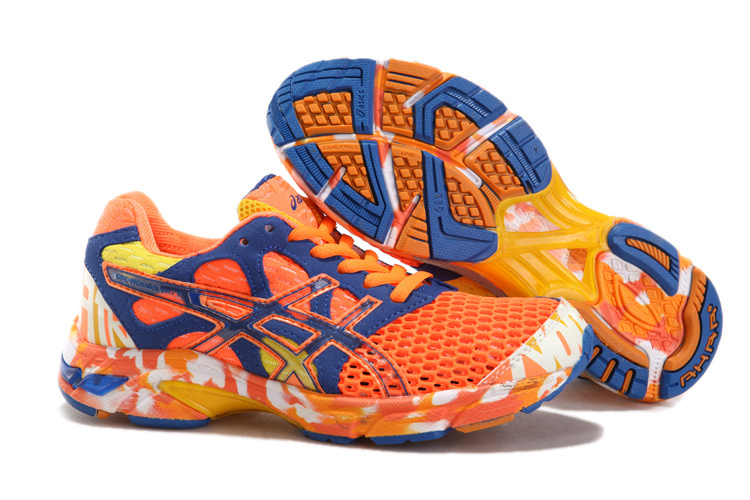 Women's Asics Gel Noosa Tri 7 Dark Slate Blue Orange Red Yellow
