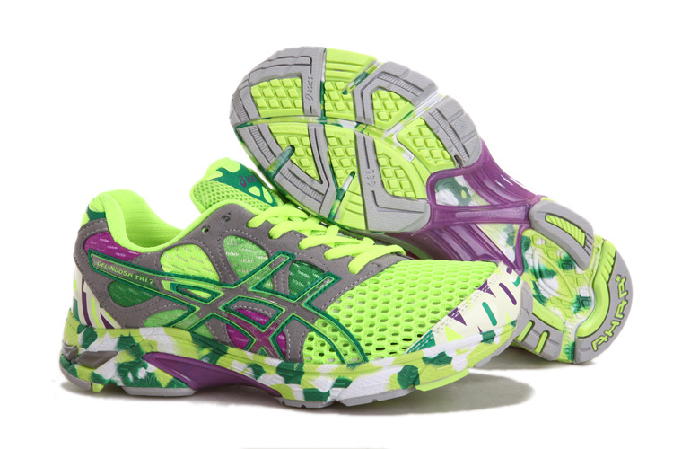 Women's Asics Gel Noosa Tri 7 Yellow Green DarkKhaki Blue Violet
