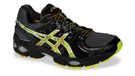 Asics Men's Gel Nimbus 14 Black Dim Gray Green Yellow