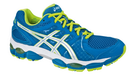 Asics Women's Gel Nimbus 14 Steel Blue Ghost White Yellow Green