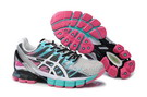 Women's Asics Gel Kinsei 4 Light Grey Deep Pink Aquamarine