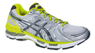 Asics Men's Gel Kayano 18 Silver Light Grey Green Yellow