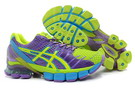 Women's Asics Gel Kinsei 4 Dark Violet MediumVioletRed Yellow Green