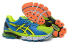 Men's Asics Gel Kinsei 4 Dodger Blue Green Yellow Dark Orange