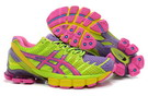 Women's Asics Gel Kinsei 4 Magenta Medium Purple Green Yellow
