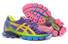 Women's Asics Gel Kinsei 4 Hot Pink SlateBlue Yellow Green